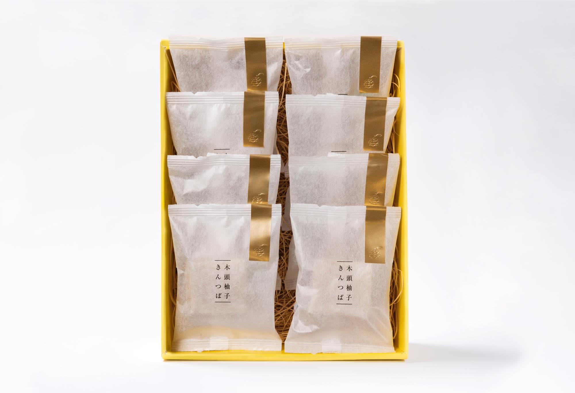 【新商品】木頭柚子 きんつば<8個入り>
